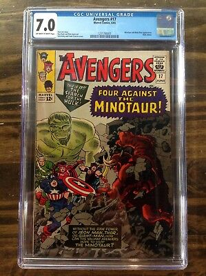 Marvel - THE AVENGERS  #17 - Stan Lee Story - CGC 7.0 Graded - Early Hulk Cameo