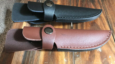 Leather Sheath For Straight Knife Fly Knife Pouch Case Up to 10 cm Blade Length