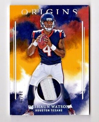 DeSHAUN WATSON NFL 2017 PANINI ORIGINS ROOKIE PATCHES GOLD (HOUSTON TEXANS) #/10