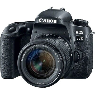 Canon EOS 77D with EF-S 18-55mm f4-5.6 STM Black Multi gft Ship from EU