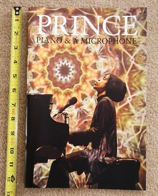 """Prince Piano and Microphone Tour 2016 """"oversized"""" FINAL CONCERT PROGRAM"""