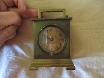 Antique Brass Shelf Wind Up Clock Waterbury for Repair or Parts