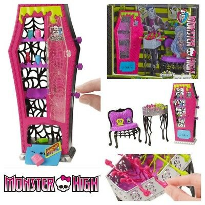 Monster High school Social Playset food vending machine table chair accessories