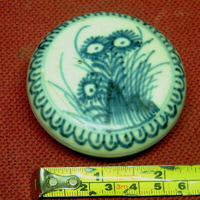 Beautiful  c1730 porcelain PIN JAR Blue/White from CA MAU shipwreck Chinese