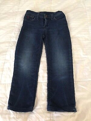 Polo Ralph Lauren Boy or Girl Cotton Jeans size 7 w/adjustable straps F17