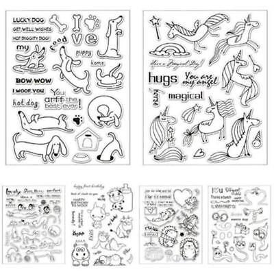 Happy Birthday Various Transparent Clear Stamp Sheet Scrapbooking CB
