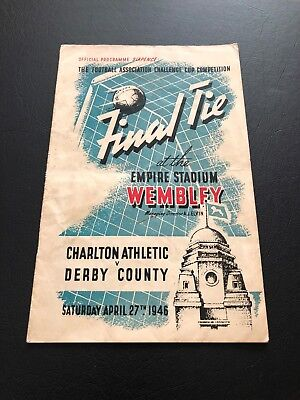 1946 Fa Cup Final Programme Derby County V Charlton Athletic..quite Superb!