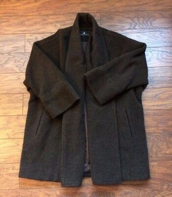 Peruvian Peru Connection Baby Alpaca Wool Oversized VTG Sweater Jacket Coat S
