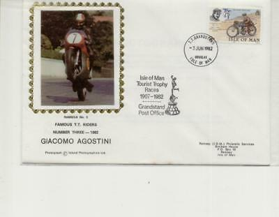 Isle of Man 1982 Famous TT Riders Cover No 3, Giacomo Agostini