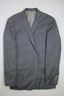 New Bar iii 3 Slim Fit 2 PC suit 38R / 34W Mid Grey Pindot Flat Front Pant #5923