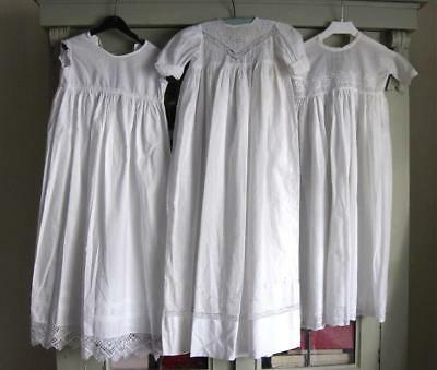 3x Antique Baby/Dolls Gowns and Petticoat
