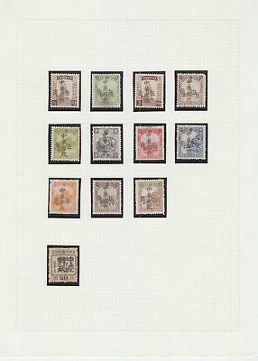 Manchuria 1945 -1946 Local Overprint on page , 12 stamps.