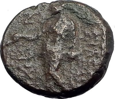 ANTIOCHOS III Megas 222BC RARE R1 Ancient Greek SELEUKID King Coin APOLLO i63873