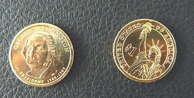 2007 D George Washington US $1 dollar president coin circulat from roll fine con