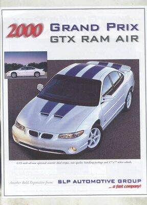 2000 Pontiac Grand Prix GTX SLP Ram Air Salesman's Brochure wy8814