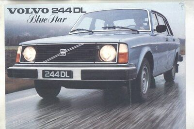 1978 Volvo 244DL Blue Star Brochure wy8828