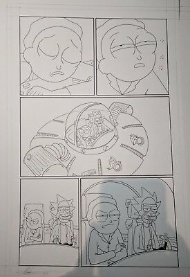 Rick and Morty Original Comic Art Published by Oni #11 Page 1 by Marc Ellerby