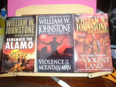 3 x WESTERNS - VIOLENCE OF THE MOUNTAIN MEN; REMEMBER THE ALAMO; VIOLENT LAND