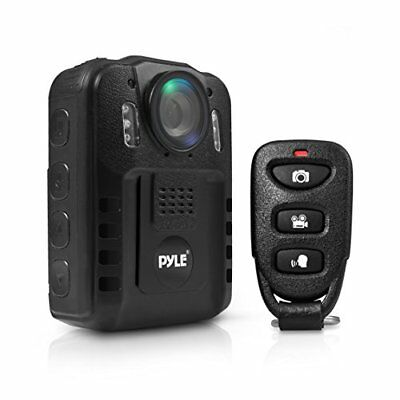 Pyle Compact Portable HD 1080p 8MP Body Police Camera Night Vision LCD Display