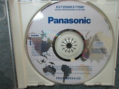 Panasonic KX-TVS50 KX-TVS80 Voice Mail Product Documentation CD PSQX1807XA-CD