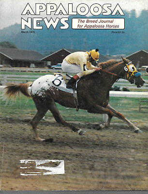 Appaloosa News Horse Magazine March 1979 Equine Breed Journal