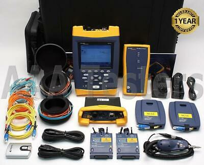 Fluke OF-500-MS45 OptiFiber SM MM Quad Fiber Certifier OTDR DTX 1800 MFM2 SFM2
