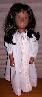 "Vintage 16"" SASHA DOLL with Long Brown Hair-DRESS & SHOES Included"