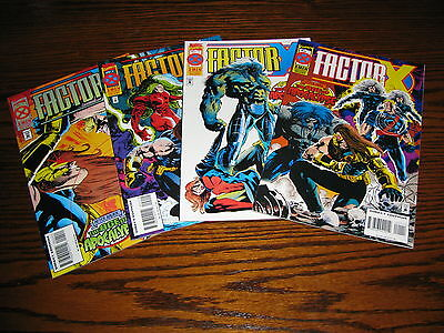 Marvel - FACTOR X Age of Apocalypse 1 - 4 Complete Mini-Set!!  1995  VF+
