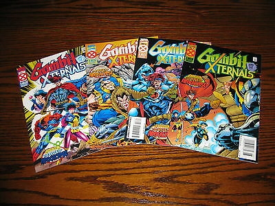 GAMBIT And The X-TERNALS Age of Apocalypse 1 - 4 Complete Mini-Set!!  1995  VF+