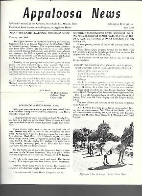 Appaloosa News May 1955 Official Breed Association Equine Horse Publication