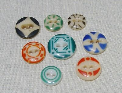 Antique China Stenciled Buttons