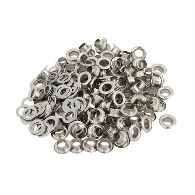 100pcs 4.5mm Iron Eyelet Grommets Silver Tone w Washers for Clothes Leather