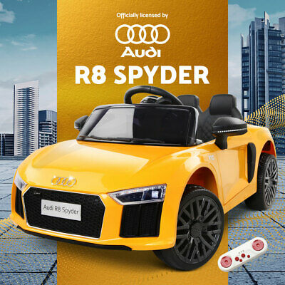 RIGO Kids Ride On Car Licensed Audi R8 Battery Electric Toy Remote 12V Yellow