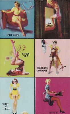 """ 6  panel "" -1940s illustrated PIN-UP/CHEESECAKE mutoscope arcade/exhibIit card"