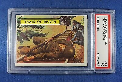 1965 Topps Battle Cards - #27 Train of Death - PSA Ex 5