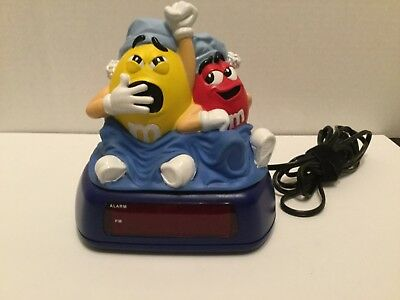 Very cute M & M candies collectible alarm clock, with nightlight, never ever use