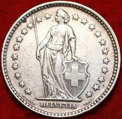 1920 Switzerland 2 Francs Silver Foreign Coin Free S/H