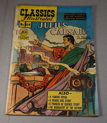 February 1950 Classics Illustrated Comic Book No. 68 Julius Caesar