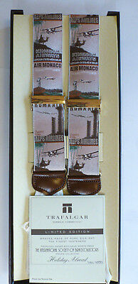 Trafalgar Limited Edition Silk & Leather Braces Suspender Holiday Abroad Airline