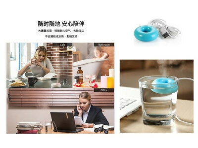 3 Colors Home Office Mini USB Donuts Humidifier Air Fresher Floats Mist Sprayer