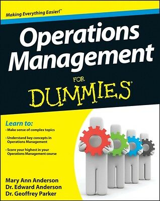 Operations Management For Dummies (Paperback), Anderson, Mary Ann. 9781118551066