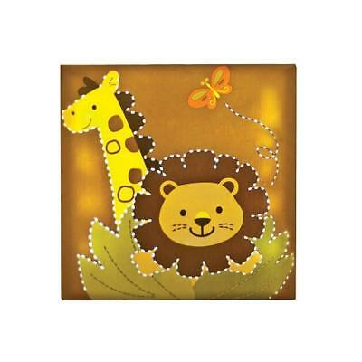 "Babies""R""Us 4271 Safari Tan Light Up Giraffe Nursery Lion Wall Decor BHFO"