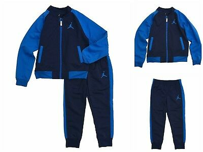 NWT Boy Toddler Youth 2 Piece NIKE OUTFIT JACKET PANTS TRACKSUIT SET Blue 7 $48