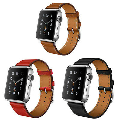 Quality Vintage Brown Leather Watch Strap Band for Apple Watch 42mm Series 2 3
