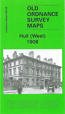 Old Ordnance Survey Map Hull West 1908 Spring Bank Anlaby Road Paragon Square