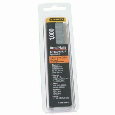 Stanley 0-SWKBN062 Brad Nails 15mm (Pack 1000)