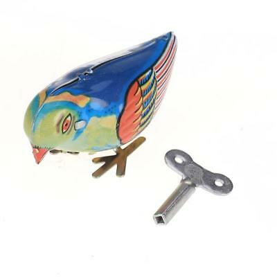 Wind up clockwork Pecking song Bird magpie Kids Tin Toy vintage retro gift