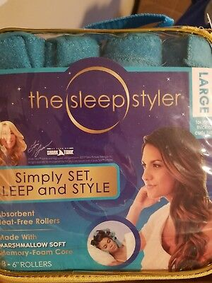 "The sleep styler 8-6"" rollers large brand new"