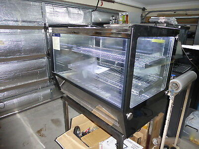 Cake Fridge Countertop Refrigeration Glass Stainless Led Lights Shelves Perfect