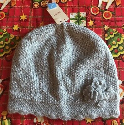 Nwt Girls NEXT Grey Silver Metallic Hat 3 4 Years